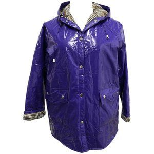 80's Purple Vinyl Rain Jacket